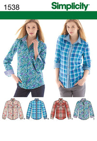 Simplicity Pattern 1538 Misses' shirt from Jaycotts Sewing Supplies