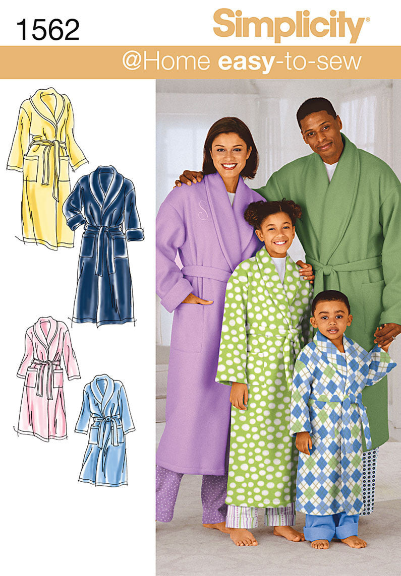 S1562 Child's, Teens' & Adults' Robe & Belt
