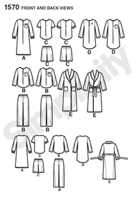 Simplicity Pattern 1570 Child's, girls' and boys' pants, shorts,