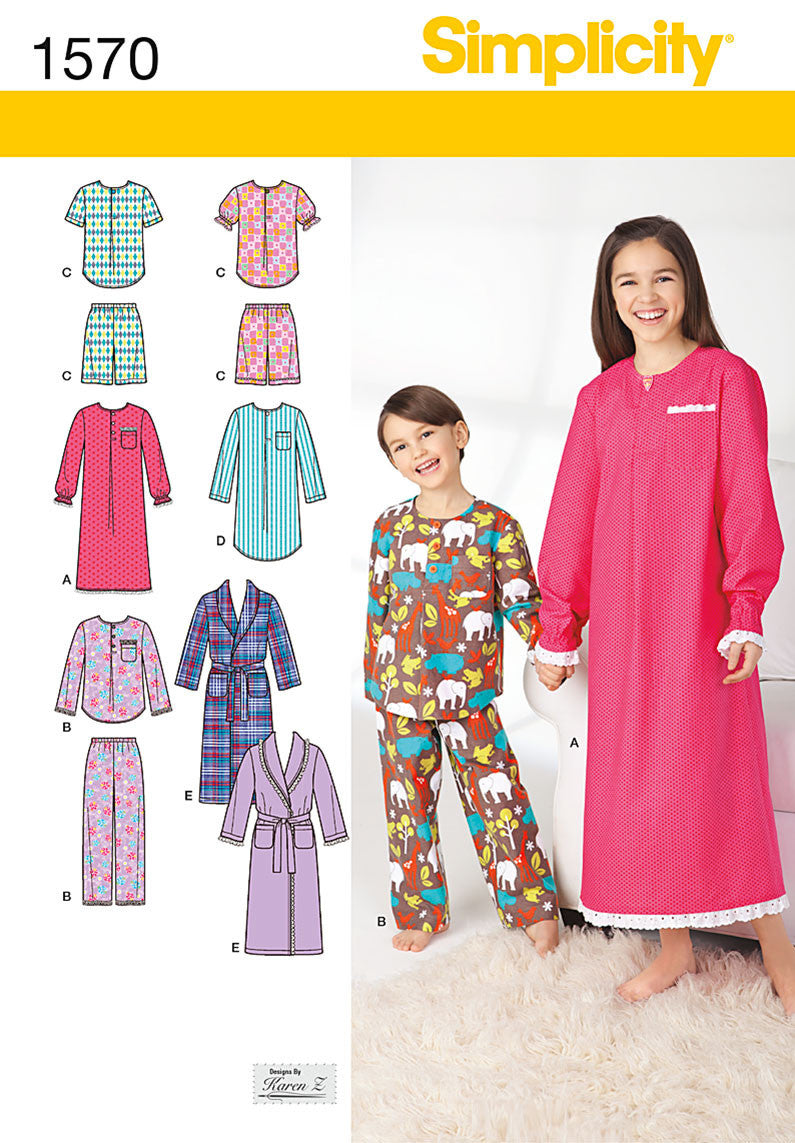 S1570 Child's, Girls', and Boys' Loungewear