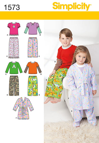 S1573 Toddlers' and Child's Loungewear