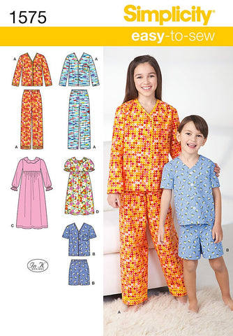 S1575 Child's, Girl's and Boy's Loungewear