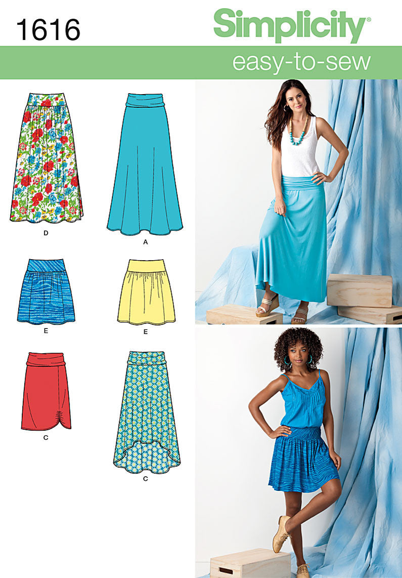 S1616 Misses' Knit or Woven Skirts | Easy