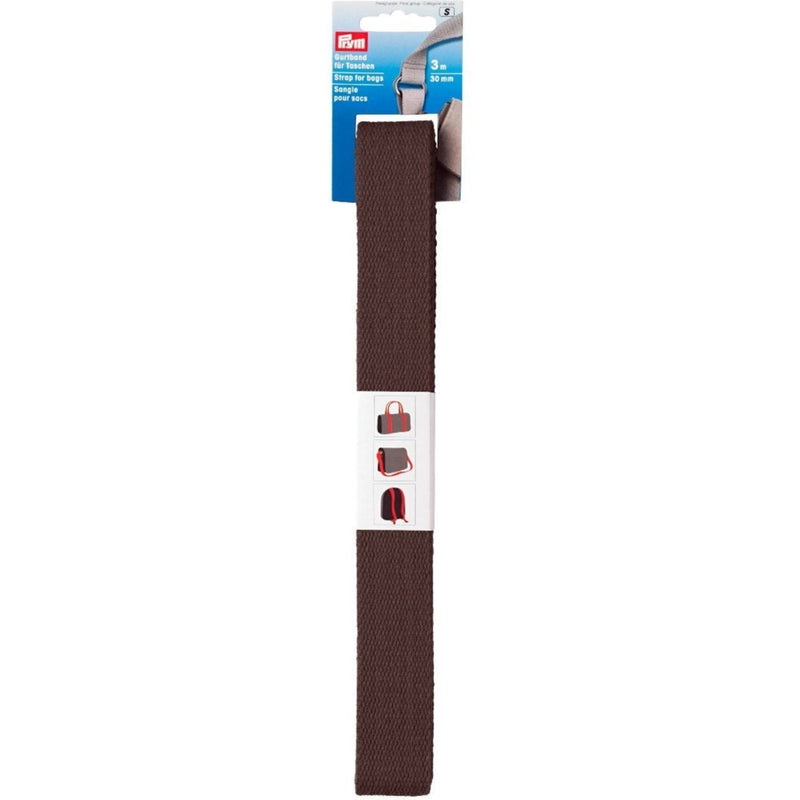 Prym Strapping / webbing for bags - 3m | Brown
