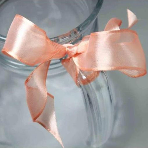 Wired Edge Organza Ribbon | Salmon