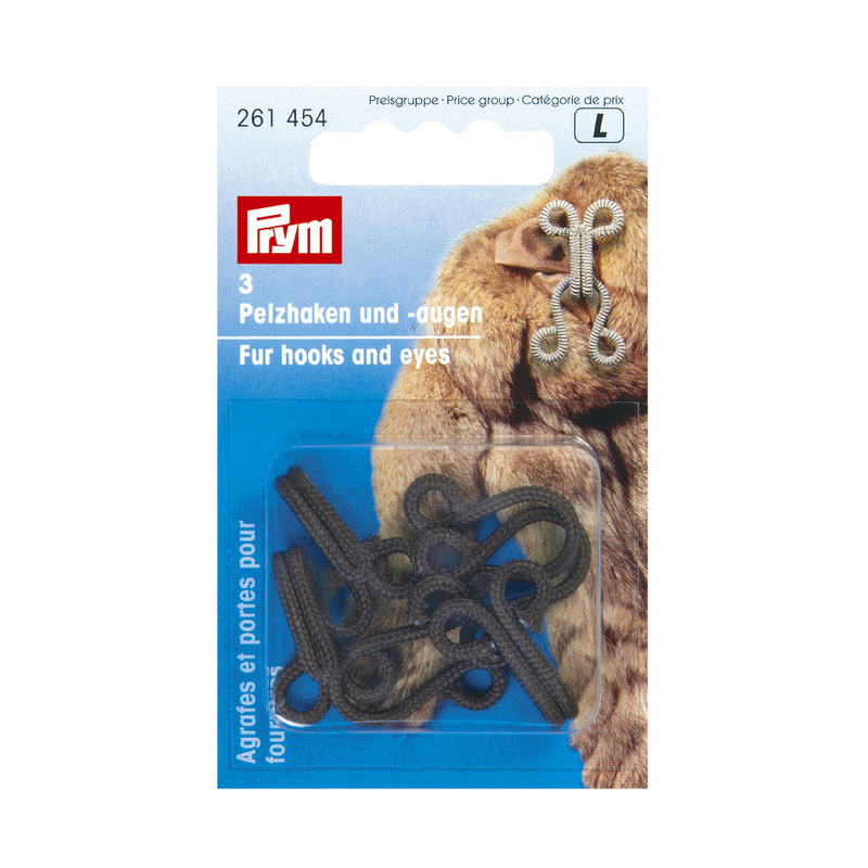 Prym Fur Hooks and Eyes (Faux Fur) from Jaycotts Sewing Supplies