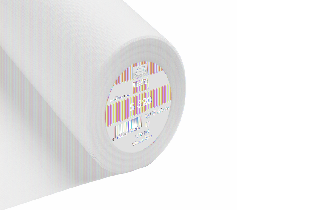 Vilene S320 Flexible Iron-on: White interfacing