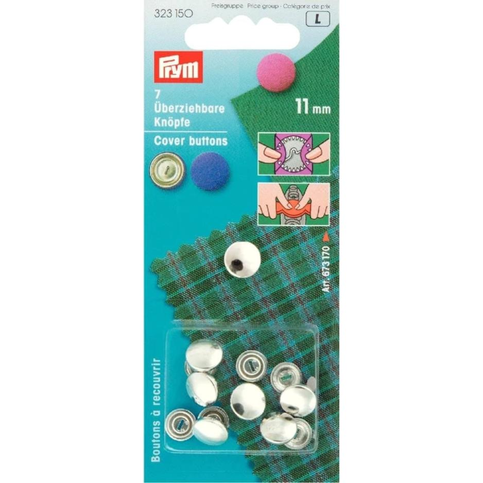Prym Metal Cover Buttons from Jaycotts Sewing Supplies