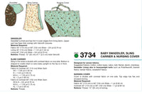 Kwik Sew 3734 Swaddler, Sling Carrier & Nursing Cover