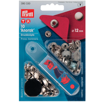 Prym no-sew Press Studs - Silver 12mm