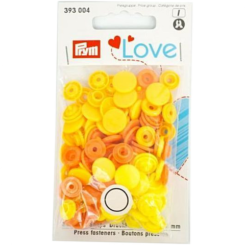 Prym Colour Snaps - Sunflower / Canary / Orange