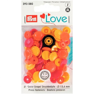 Prym Colour Snaps - Smiley Flowers - Packs of 30