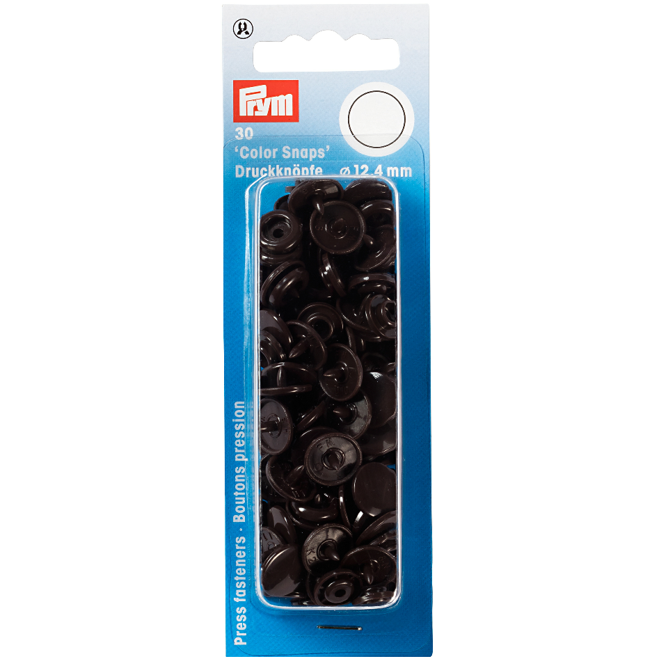 Prym Colour Snaps -  Dark Brown