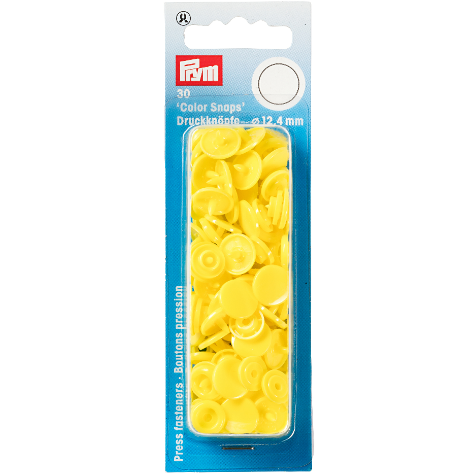 Prym Colour Snaps - Canary Yellow