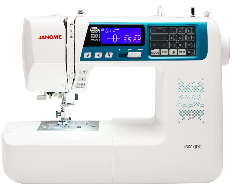 Janome 4300QDC sewing machine from Jaycotts Sewing Supplies