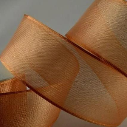 Wired Edge Organza Ribbon | beige  | 25m roll