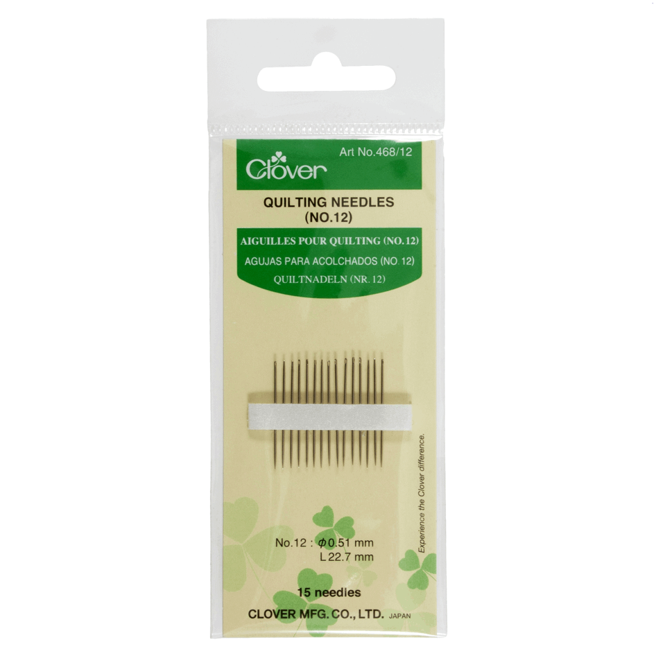 Clover 468 Gold eye Quilting Needles from Jaycotts Sewing Supplies