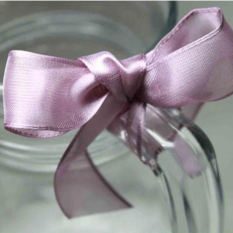 Wired Edge Organza Ribbon | deep mauve