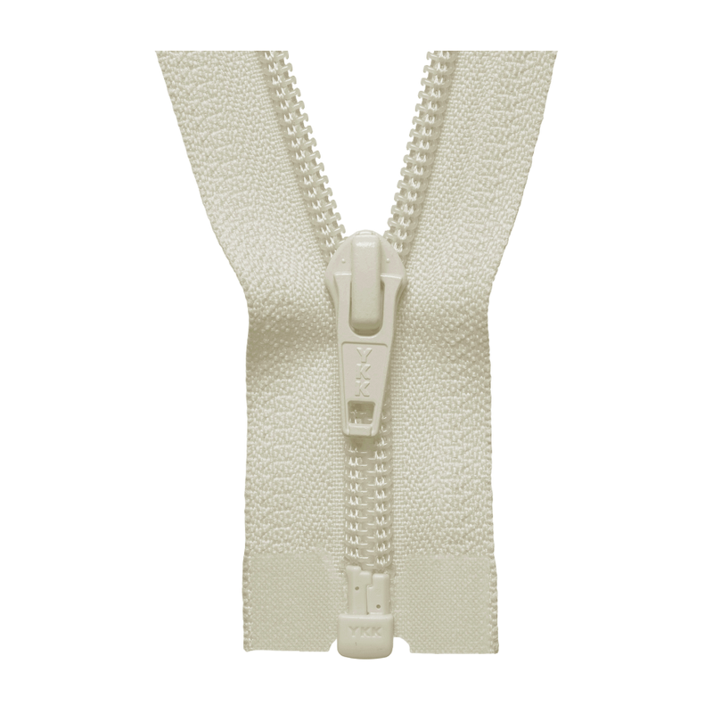 YKK Open End Zip - Medium Nylon | Colour 502 Ivory