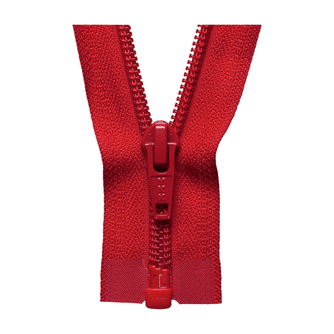YKK Open End Zip - Medium Nylon | Colour 519 Red