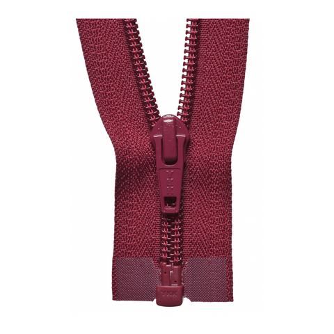 YKK Open End Zip - Medium Nylon | Colour 527 Wine