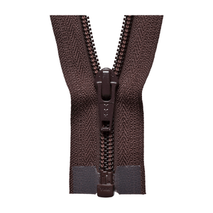 YKK Open End Zip - Medium Nylon | Colour 570 Brown