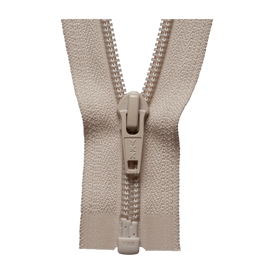 YKK Open End Zip - Medium Nylon | Colour 573 Biscuit