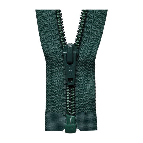 Open End Zip - Medium Nylon | Colour 890 Bottle Green