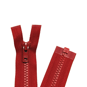 YKK Open End Zip - Medium Plastic | colour 519 RED from Jaycotts Sewing Supplies