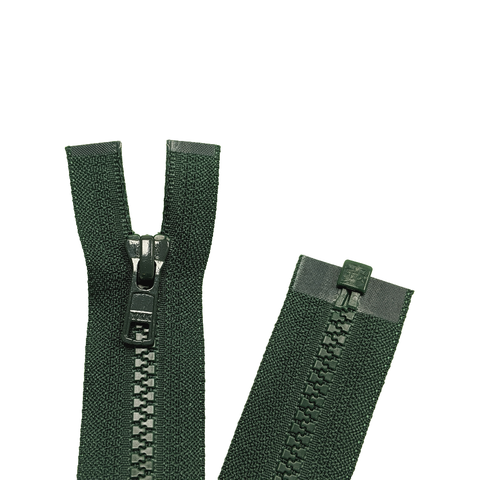 Open End Zip - Medium Plastic | Colour 890 Bottle Green