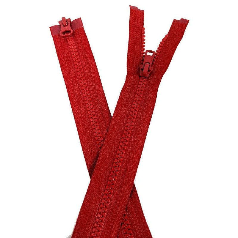 YKK Two Way Open End Zip No.5 | Medium | Red from Jaycotts Sewing Supplies