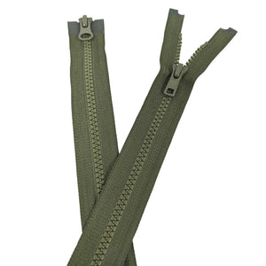YKK Two Way Open End Zip No.5 | Medium | Khaki from Jaycotts Sewing Supplies