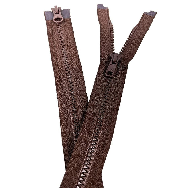 YKK Two Way Open End Zip No.5 | Medium | Brown from Jaycotts Sewing Supplies