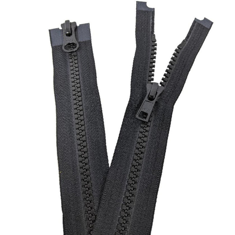 YKK Two Way Open End Zip No.5 | Medium | Black