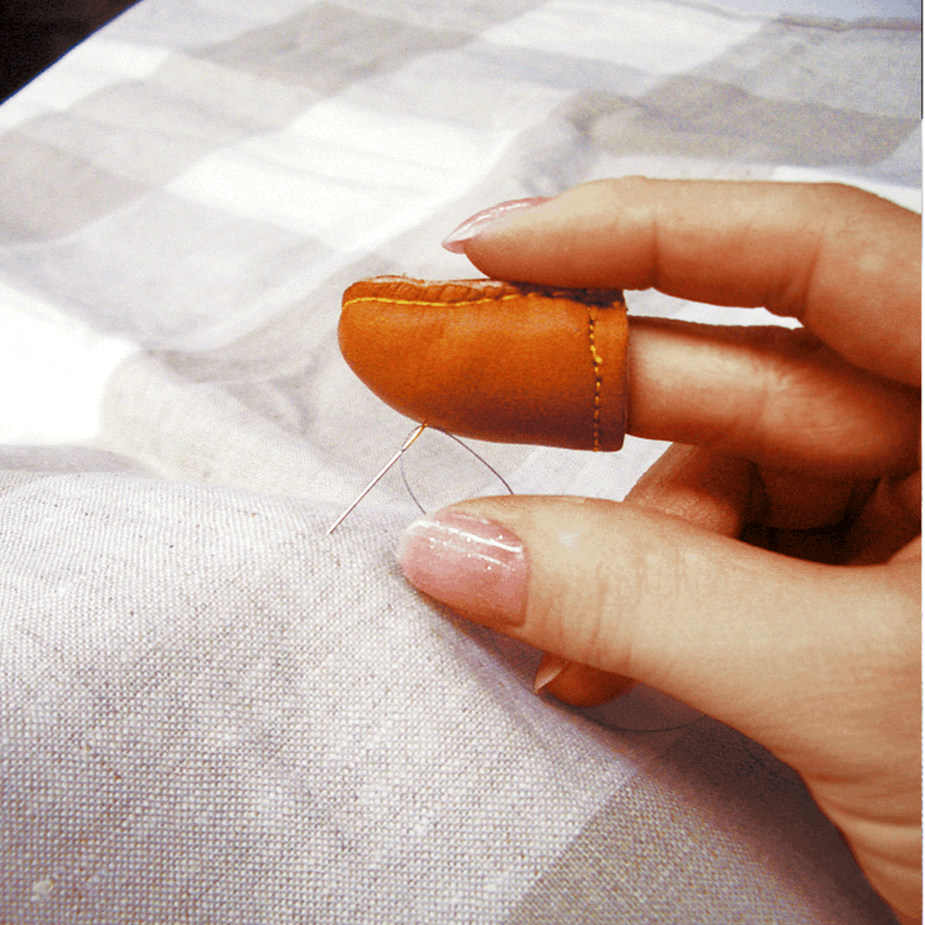 Natural Fit Leather Thimble from Jaycotts Sewing Supplies