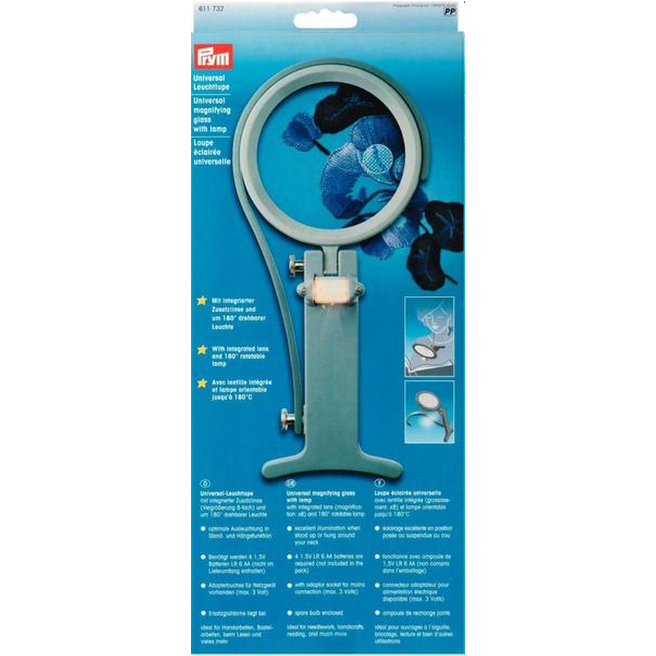 Prym Universal Magnifying Glass with Lamp from Jaycotts Sewing Supplies