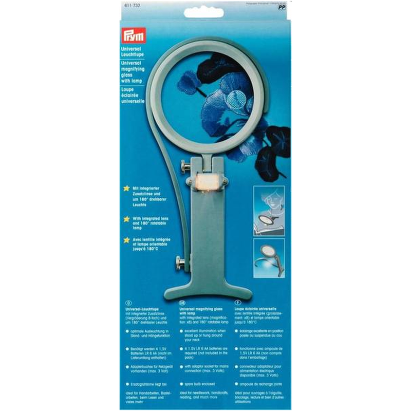 Prym Universal Magnifying Glass with Lamp