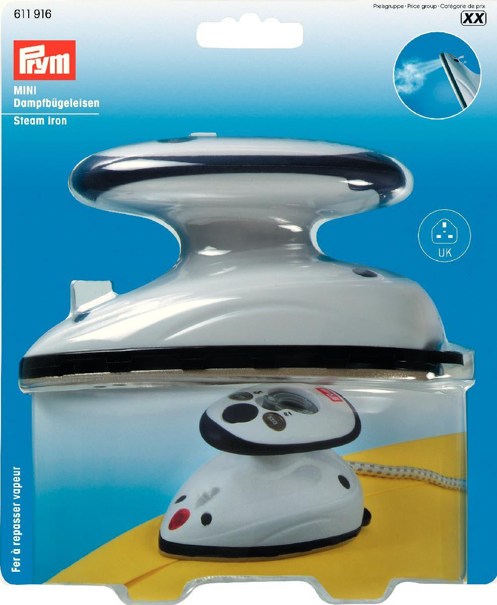 Prym mini steam iron great for dressmaking, quilting and crafts