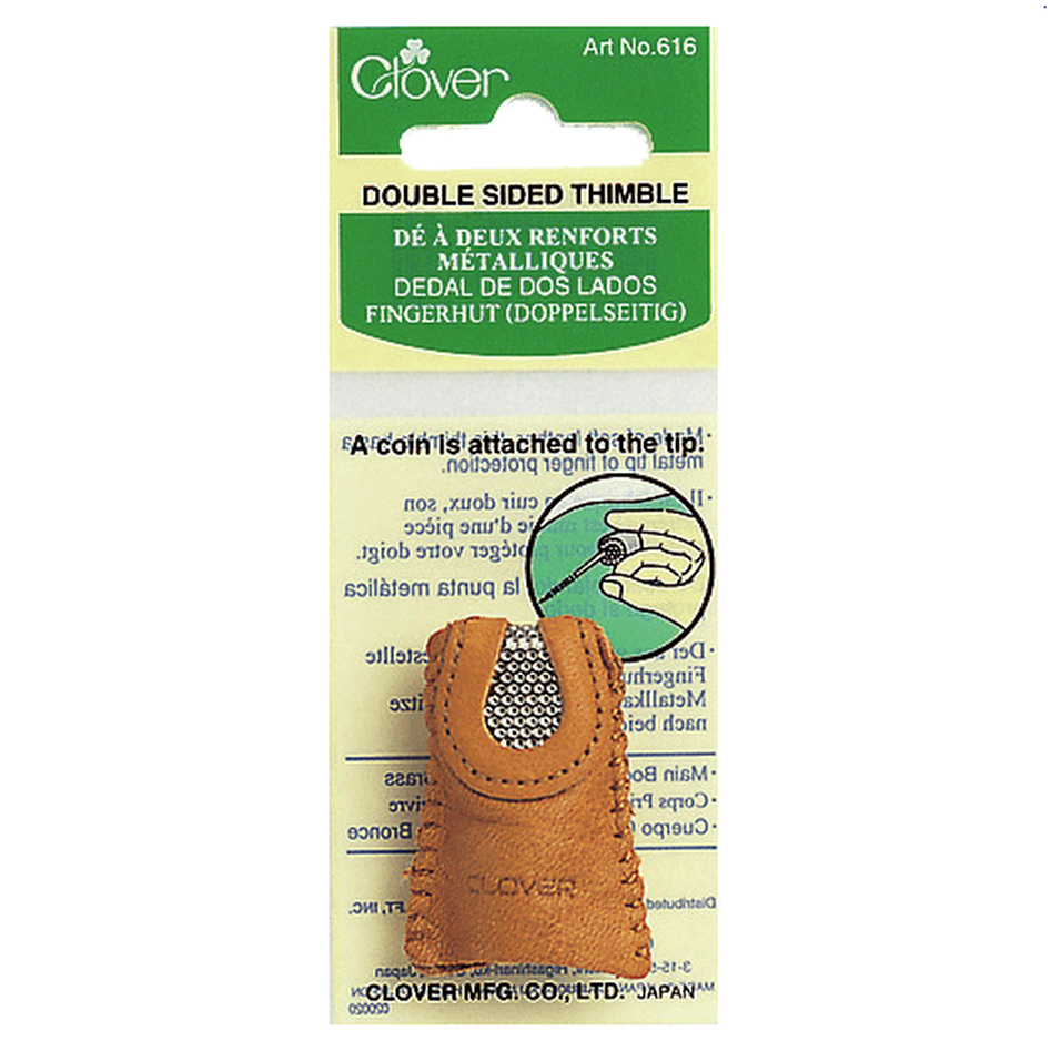 Double Sided Leather Thimble from Jaycotts Sewing Supplies