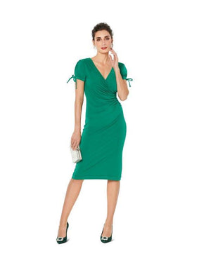 Burda Pattern 6211  Dress in Wrap Look –  Figure Fitting from Jaycotts Sewing Supplies