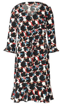 Burda Pattern 6215 Dress with Button Fastening – V-Neck – Hem Flounce