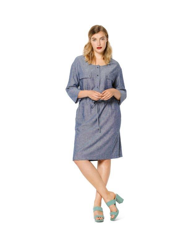 Burda Pattern 6216 Women's Dress with Front Button Fastening from Jaycotts Sewing Supplies