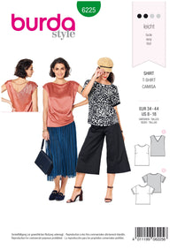 Burda Pattern 6225  Blouse – Top – Straight Cut from Jaycotts Sewing Supplies