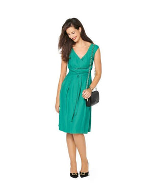 Burda Pattern 6239  Dress with Band at the Waist –  Over-cut Shoulders from Jaycotts Sewing Supplies