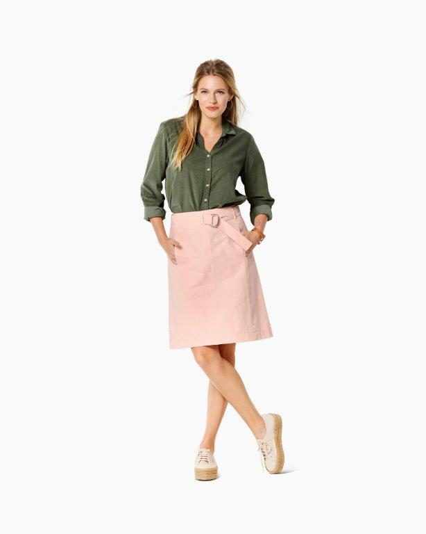 Burda Pattern 6241  Skirt – Flared Skirt –  without Waistband – with Belt