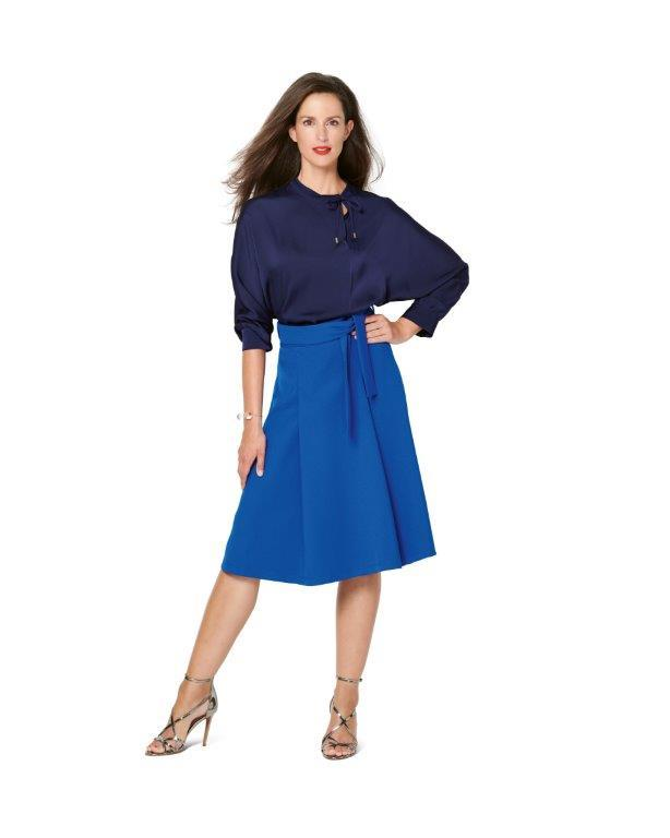 Burda Pattern 6247  Skirt with Pleats –  Flared Shape from Jaycotts Sewing Supplies