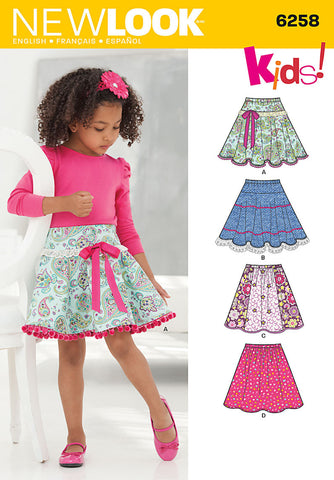 NL6258 Child's & Girls' Circle Skirts