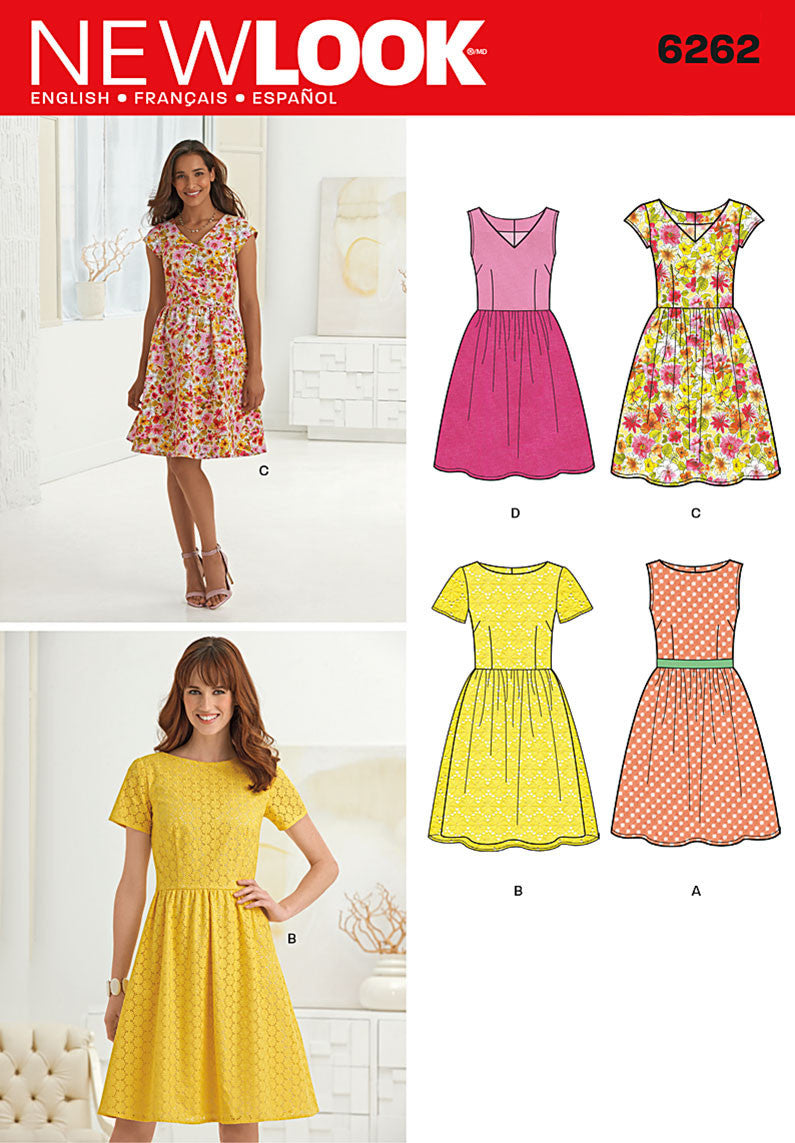 NL6262 Misses' Dress with Neckline Variations from Jaycotts Sewing Supplies