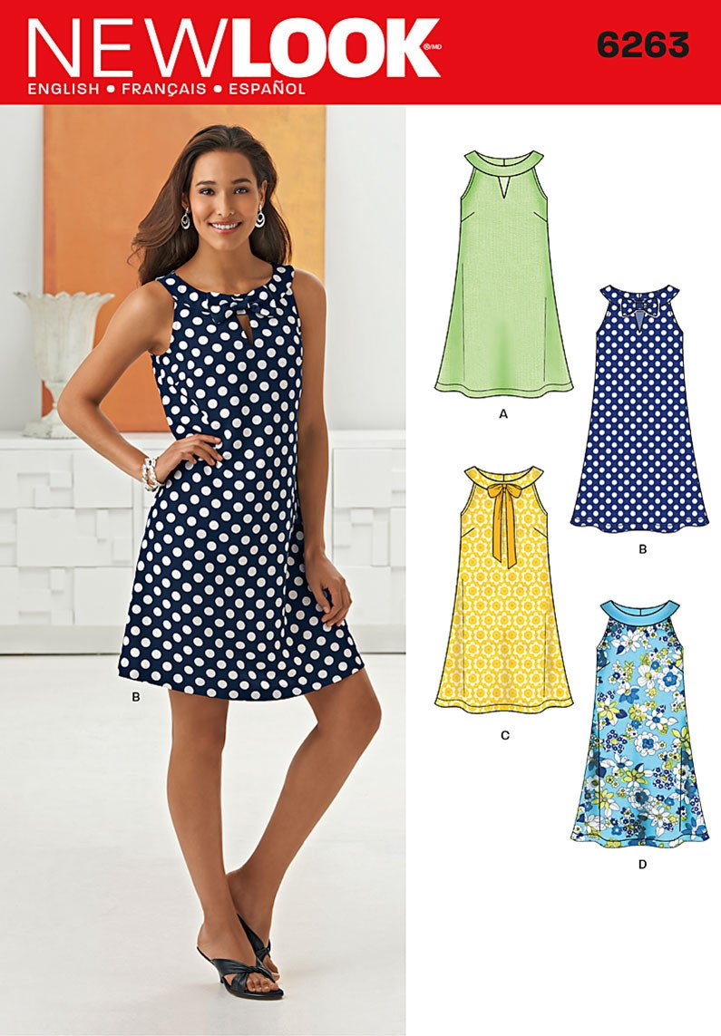 New Look Sewing Pattern 6263 |  Misses' A- Line Dress