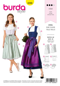 6268 Burda Sewing Pattern |   Dirndl Dresses from Jaycotts Sewing Supplies